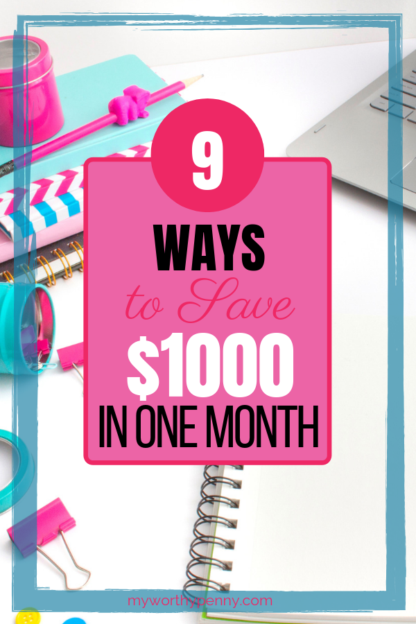 Do you want to save $1000 in one month? These post will give you tips on how to save money fast in one month. Click through to find out.