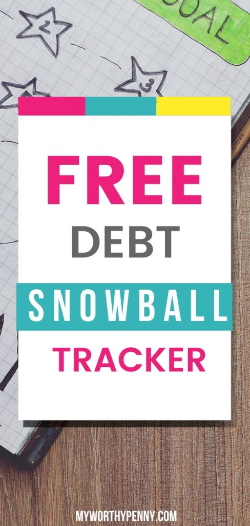Use this free debt snowball printable worksheet to achieve your debt payoff goals. #payoffdebt