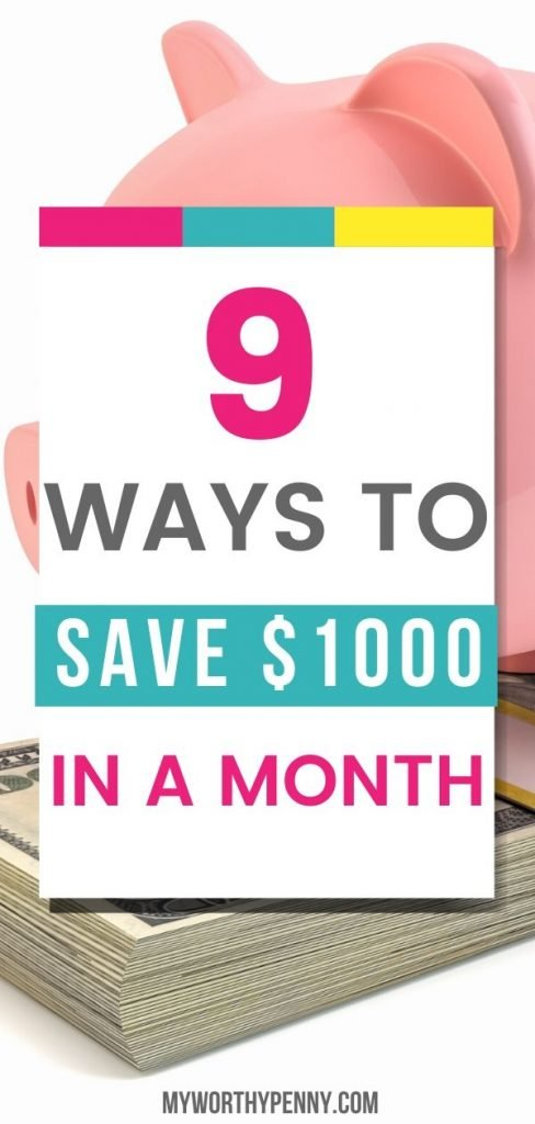 Looking for ways to save $1000 in a month? Here is a save money challenge monthly that you can do to save $1000 a month.