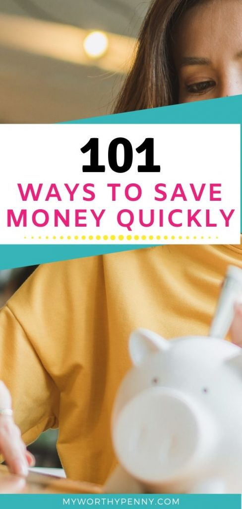 Looking for ways to achieve your financial goals by saving money? Here are 101 ways to save money fast.