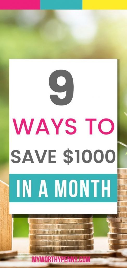 Here are save money in a month tips that you can start doing so you can save $1000 in a month.