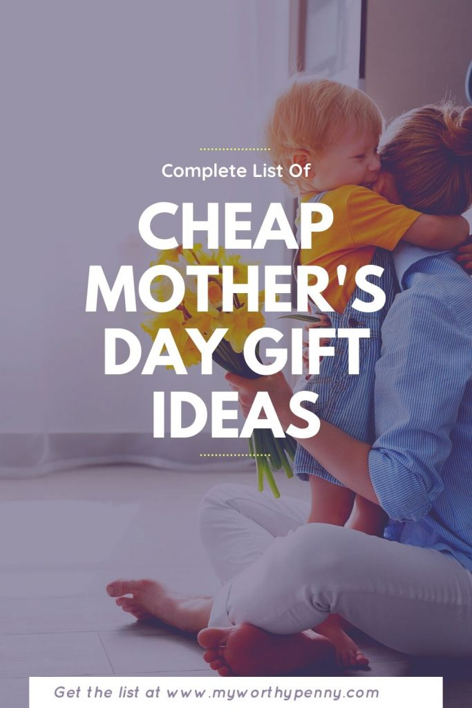 Affordable gift ideas for Mother's Day.