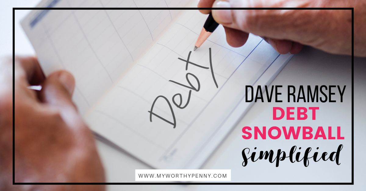 Have you been wondering what Debt Snowball it? Learn how you can use the Dave Ramsey debt snowball to jumpstart your debt payoff journey.