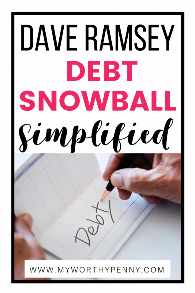 The Dave Ramsey Debt Snowball technique is one of the popular ways to tack debt. Learn the simplified way to start the debt snowball in this post. #debtpayoff #debtsnowball #payoffdebt #daveramseydebtsnowball