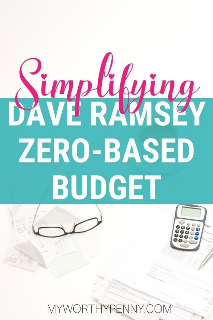 Simplifying Dave Ramsey zero-based budget
