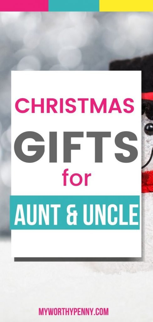 Make Aunt and Uncle happy with this Christmas gift ideas. #giftforauntanduncle