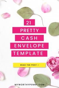 Here are some of the best cash envelope templates printable that you can start using.