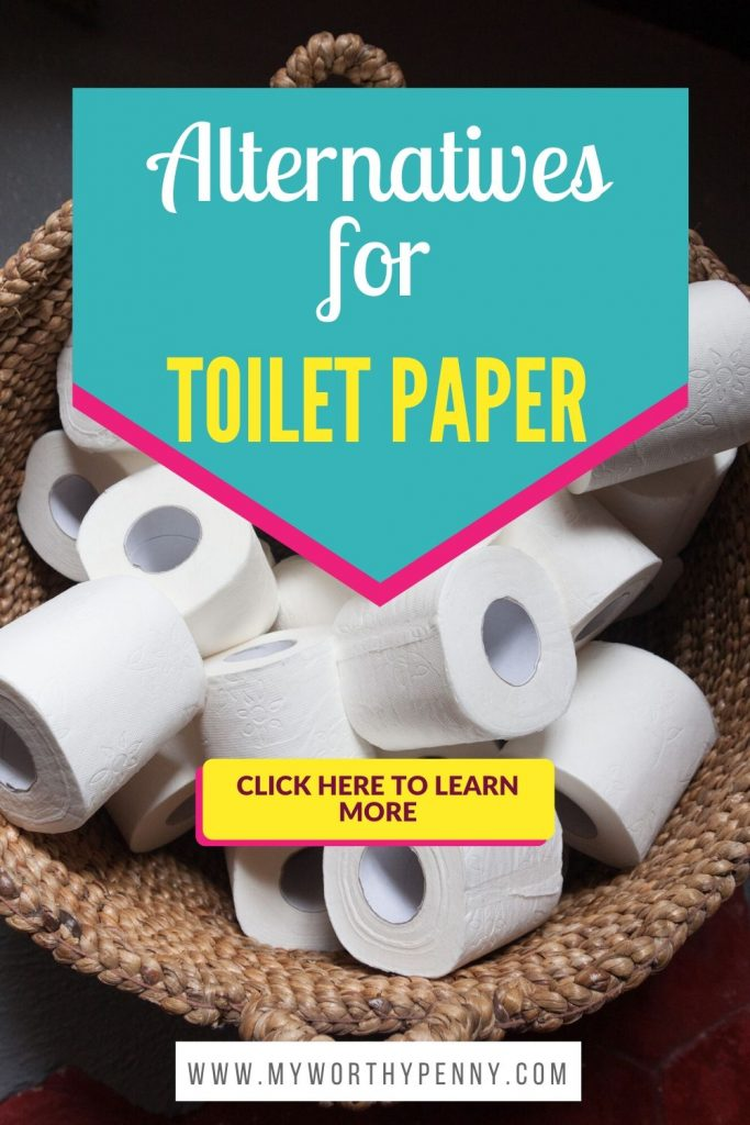 Toilet paper shortage? No problem, here are 35 alternatives for toilet paper that you can use. #toiletpaper