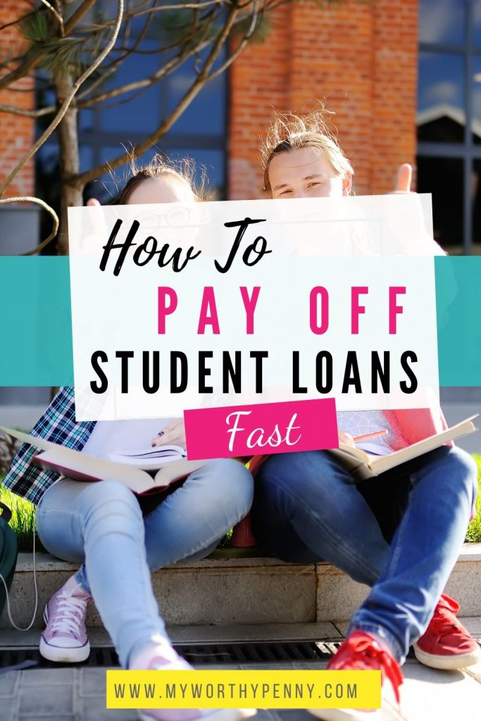 Strategies to pay off student loans fast.