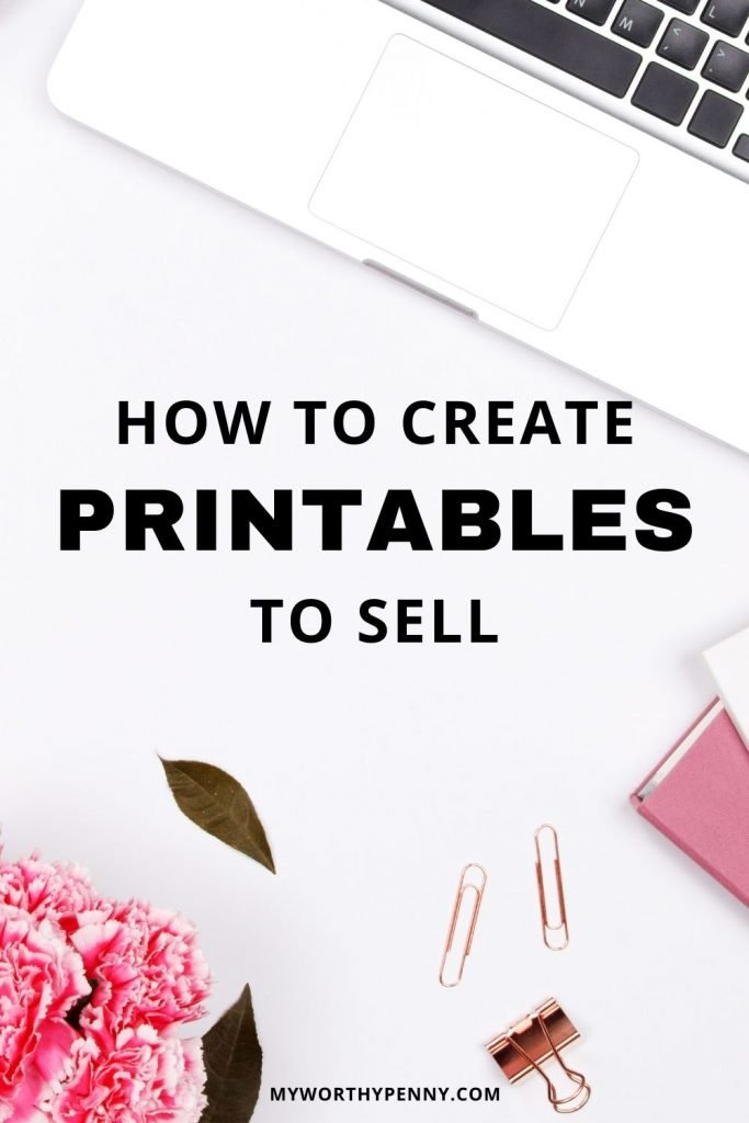 When you learn how to create digital products, you will have the potential to earn passive income with printables. Learn how to make printables to sell on etsy and start an etsy side hustle. How much money can you make selling printables  would depend on the digital download ideas. Discover the best selling printables on etsy and learn how to sell printables on your blog. #makemoneysellingprintables