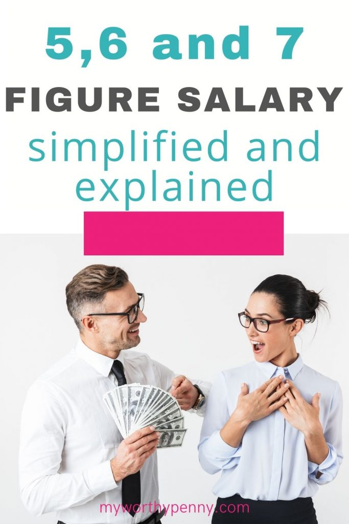Wondering what a 5 figure salary is? Here is a simple and detailed explanation of what a 5 figure salary looks like along with 6 and 7 figure salary.