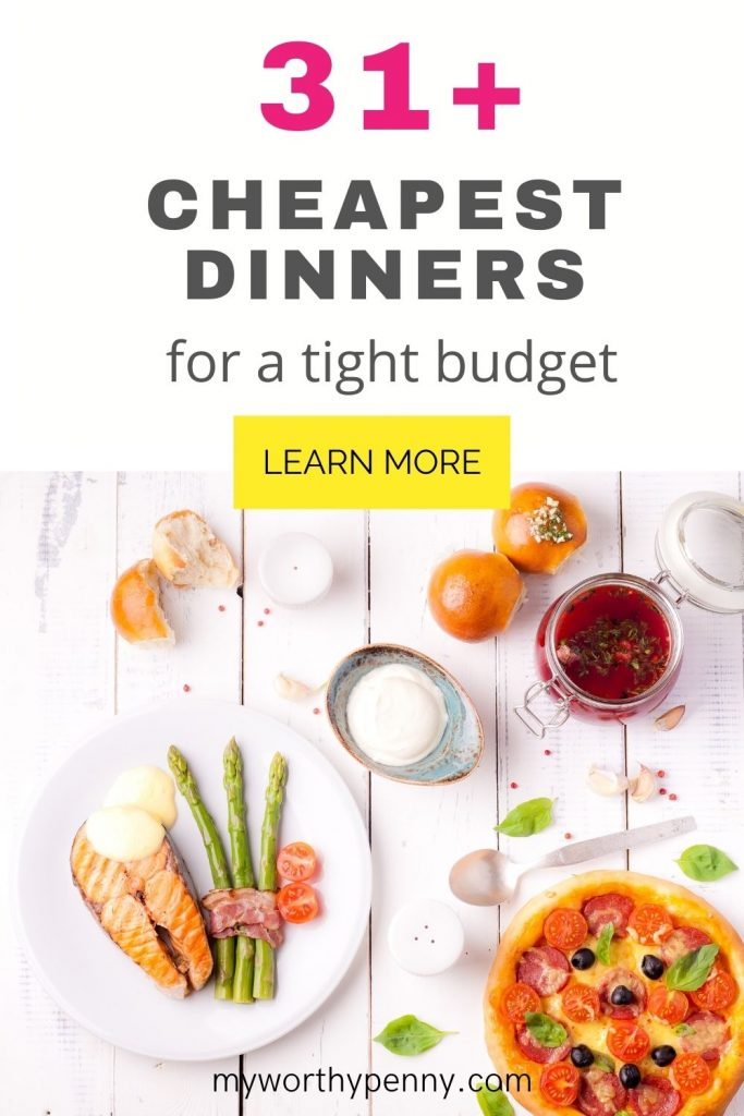 Looking for the cheapest dinners? Here is a lis of the cheapest dinners ever that you can do without breaking your budget. You can easily make these cheapest meals and make your family and your wallet happy. Cheap healthy meals. Cheap dinners for a family.
