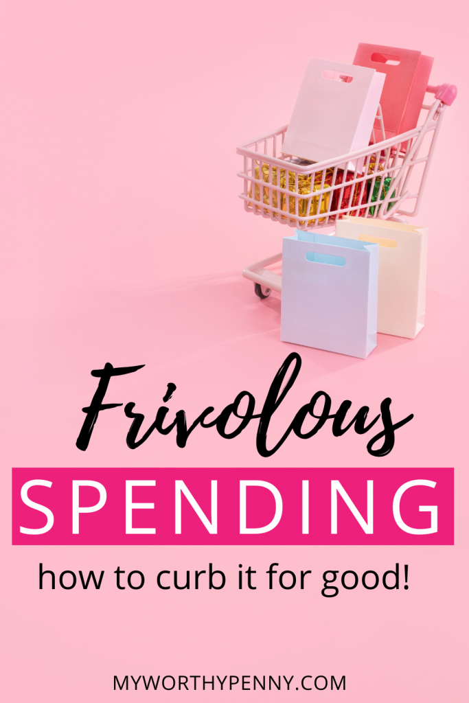 Frivolous spending can really be overwhelming but you are not alone. We are sharing our tips on how to stop frivolous spending on the blog. Learn what does frivolous means, discover how to stop your frivolous spending habits, and learn from frivolous spending examples to improve how you spend money and improve your personal financial goals.  These tips is going to help millennials like yourself take care of their personal finance and prepare for retirement. head to the blog to learn more. Spending money |  what is considered frivolous spending | what does frivolous spending mean #spend #money