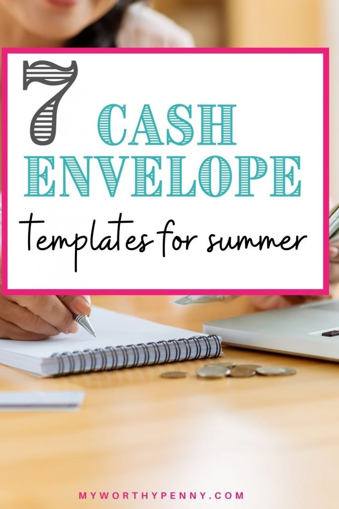 Cash envelope budgeting shouldn'e be boring. Here are the best Dave Ramsey inspired printable cash envelopes that are perfect for cash envelope budgeting system that you can use to save money. These summer theme cash envelope templates can help track your spending and help you save money. horizontal cash envelopes | budget envelopes | cash envelope system templates #moneyenvelope